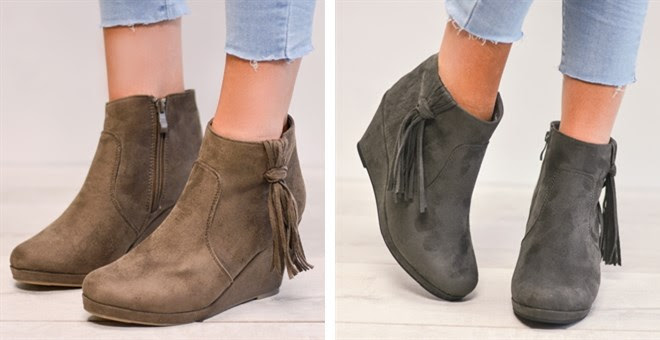 Wedge Booties – Was $62.99 – Ships for $22.98! Ends 8/5/18