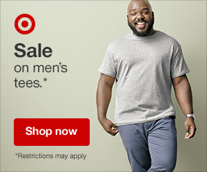 Sale on Men's Tees @ Target Ends 9/15/18