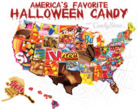Halloween Candy Map 2018 🎃 Most Popular Candy in Your State