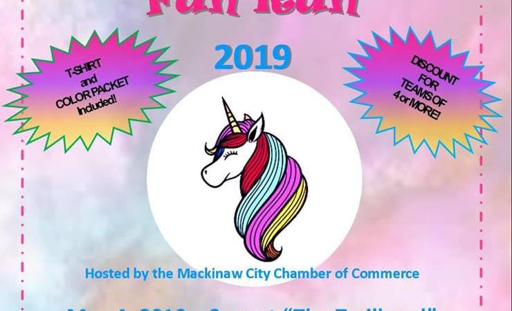 Mackinaw City Magical Color Fun Run May 4, 2019