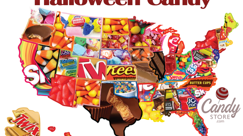 Halloween Candy Map 2019 & WORST Halloween Candy