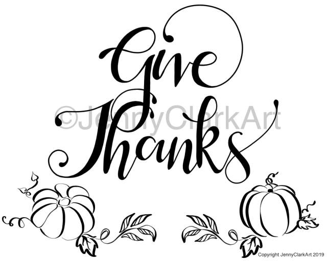give thanks watermarked design