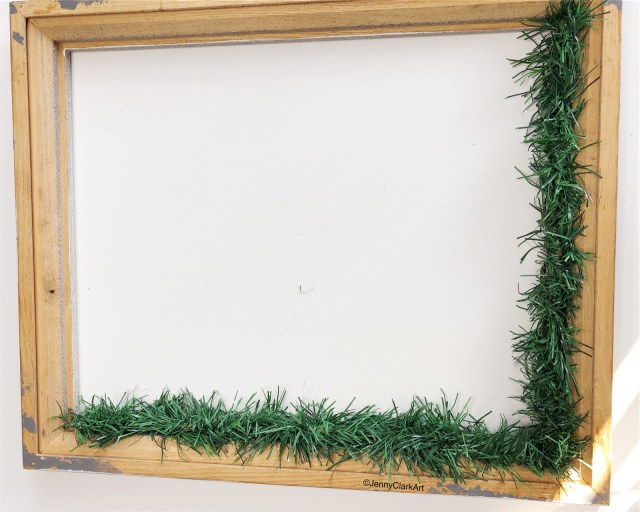 mmn upcycled frame back with two sides garland