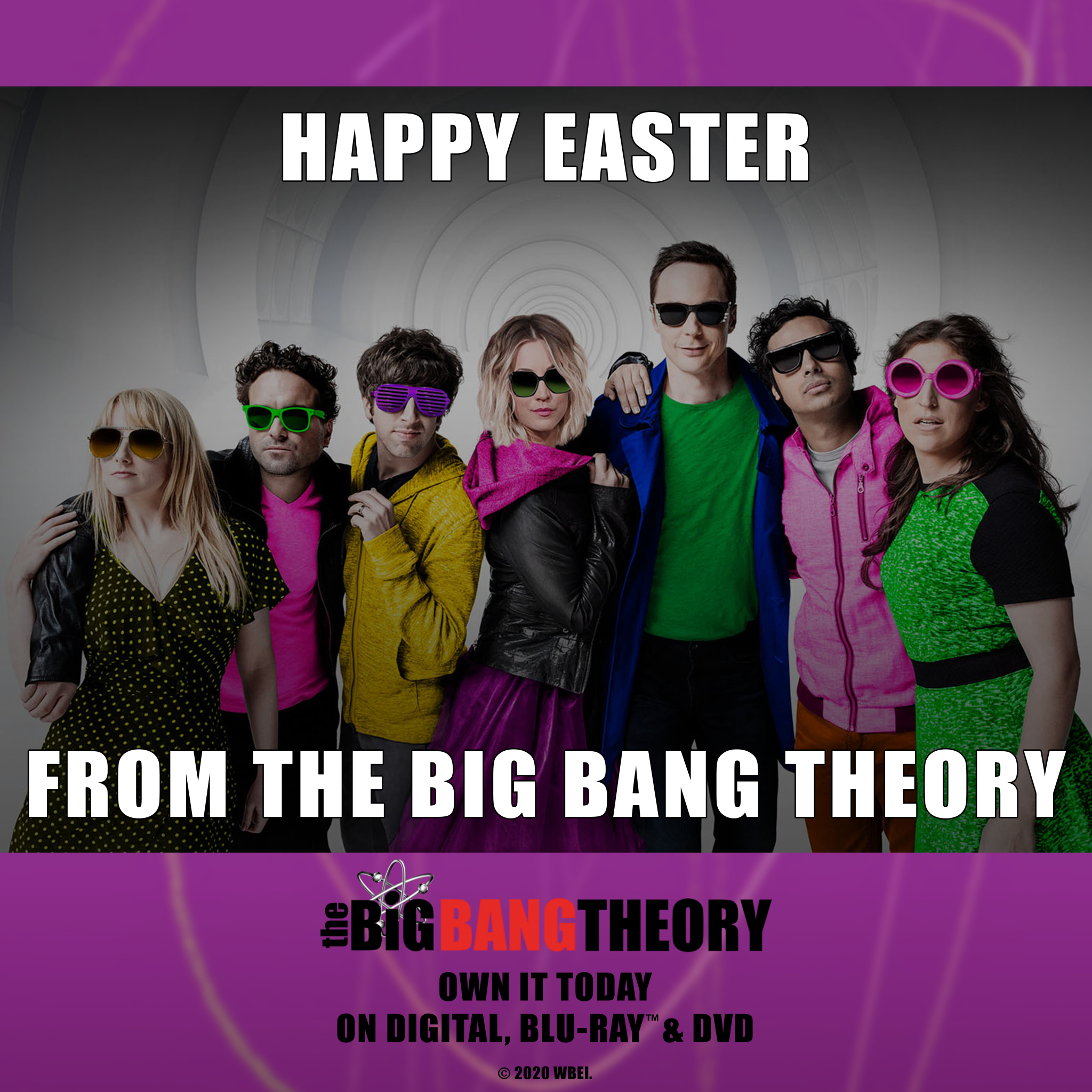 Happy Easter from the Big Bang Theory: Own the Series TODAY!
