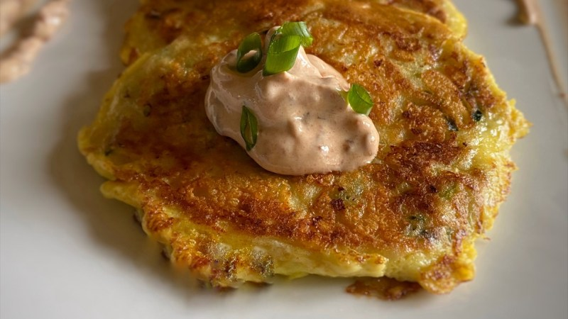 How to Make Zucchini Fritters with Chipotle Sour Cream