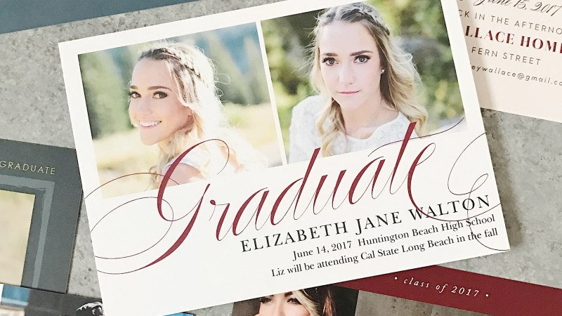 Celebrate Your Graduate's Accomplishments With Basic Invite