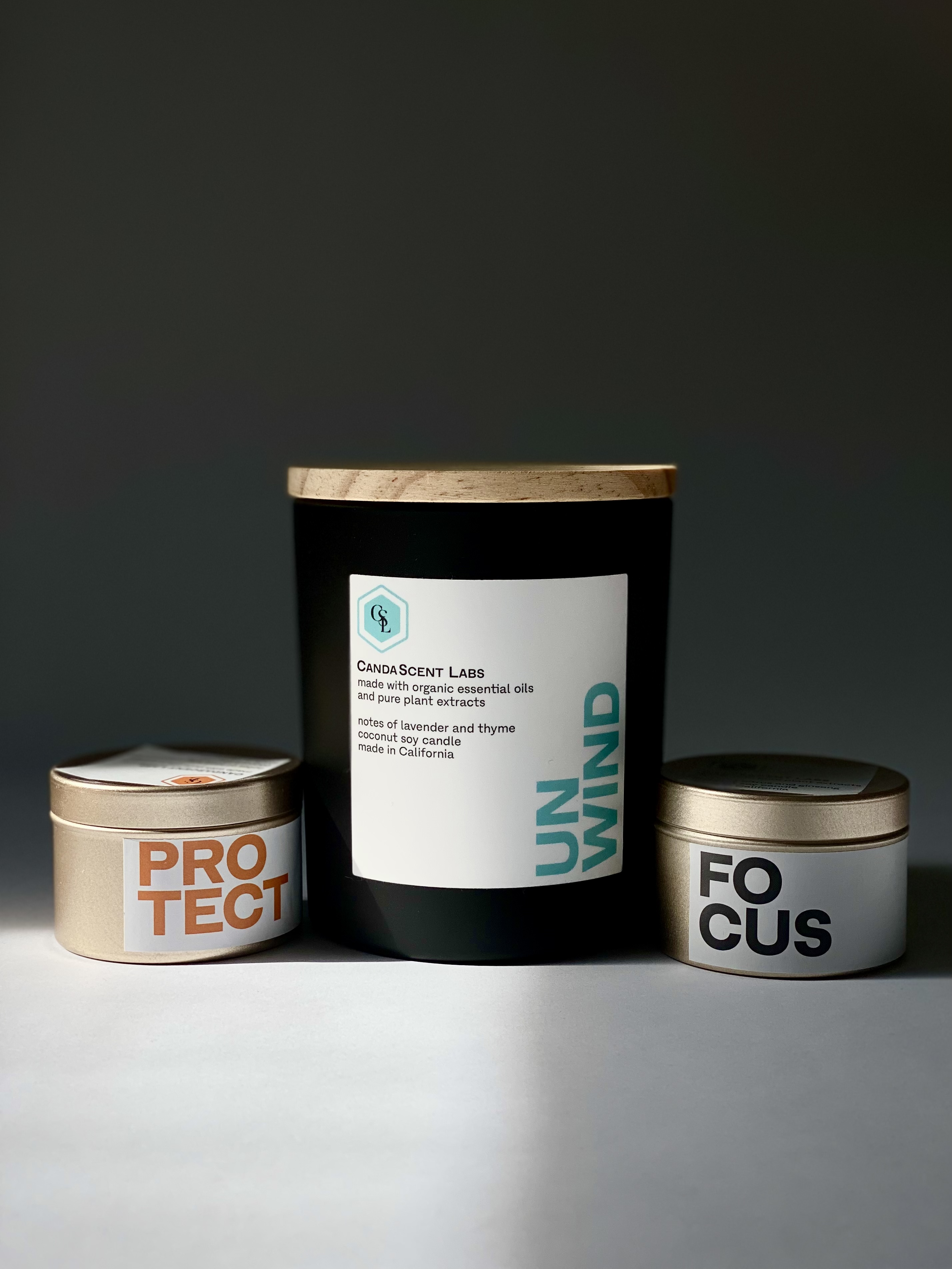 Luxury Wellness Candles: 100% Plant Derived Ingredients!