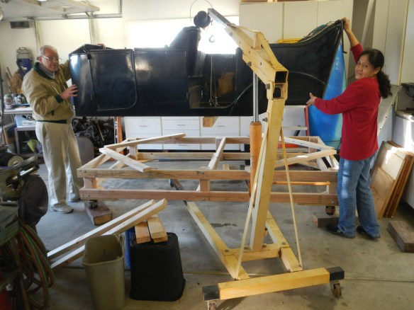 Body Cart in place