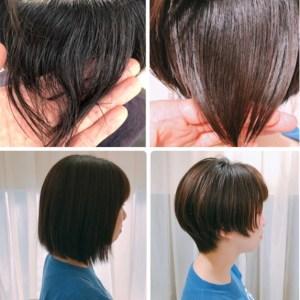 【多毛、くせ毛】が悩みの方を、内巻き縮毛矯正で丸いショートヘアに。
