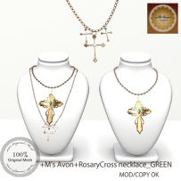 +M's Avon+Rosary Necklace_GREENpop