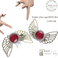 +M's Avon+Feather of the angel RING RED
