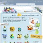 Trente emoticones offert par MSN UK