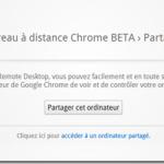 Google Chrome permet le partage a distance