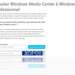 Obtenez gratuitement le pack Windows Media Center pour Windows 8