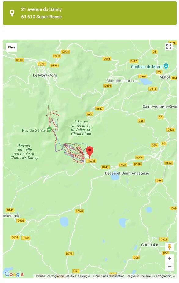 Google Map - localisation de votre établissement