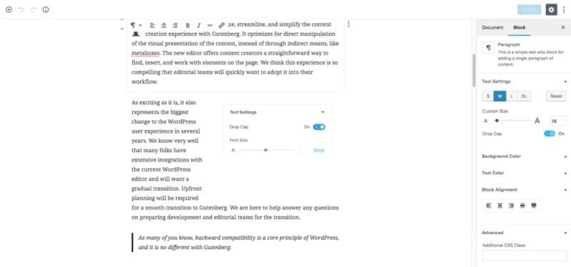 Gutenberg - WordPress