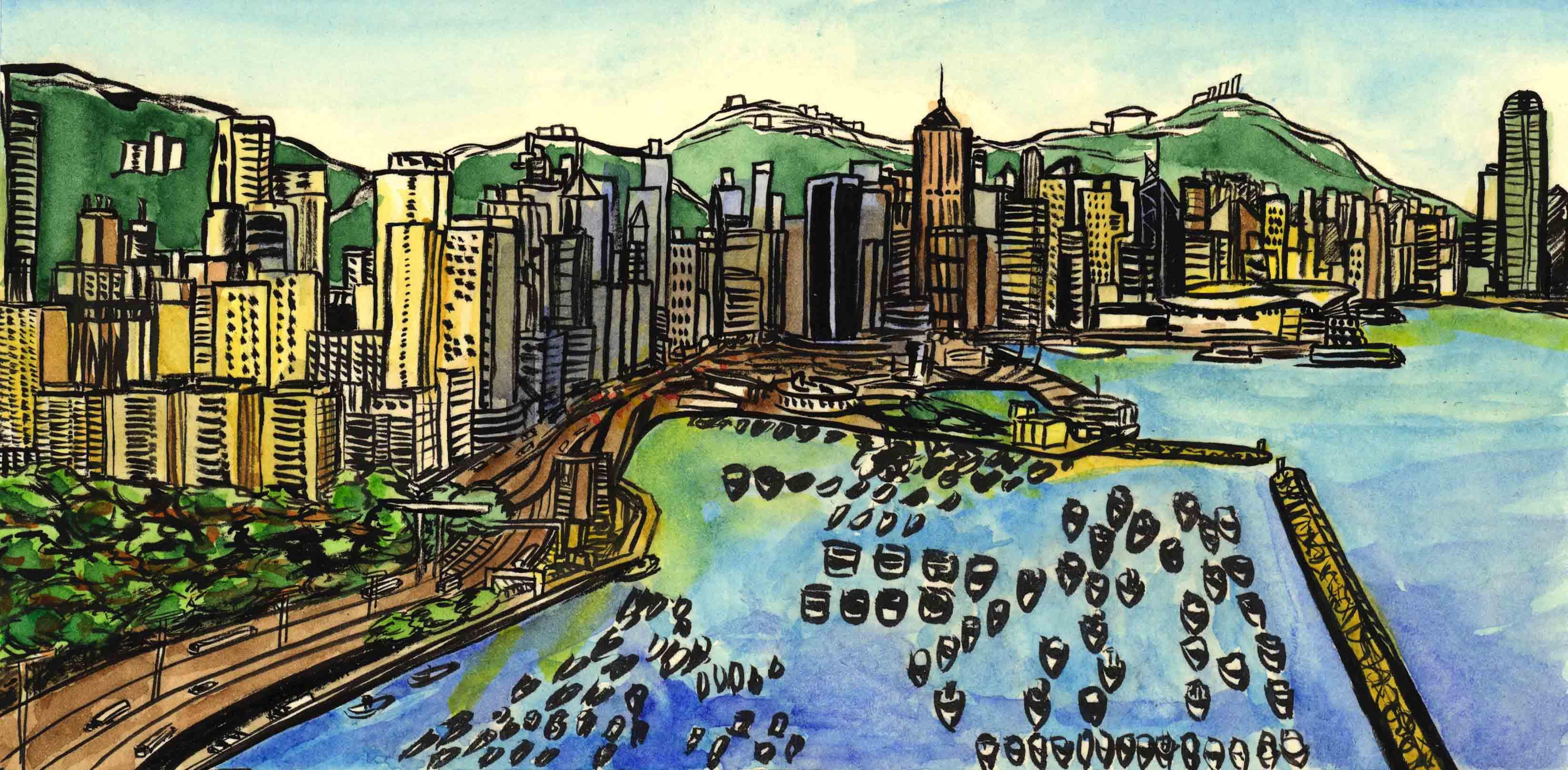 Hong Kong coastline low res