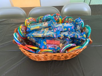 Basket of Pez and Lollipops a la Disney