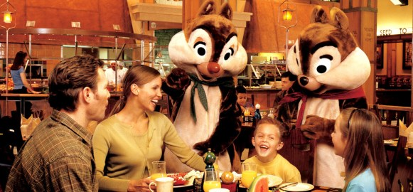 disneyland character dining 2016 chip and dale