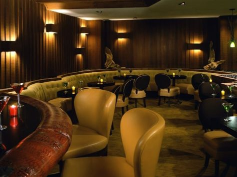 The Driftwood Room bar at the Hotel Deluxe Portland Oregon where I crossdressed