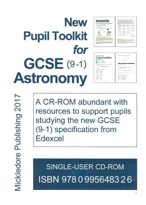 New Pupil Toolkit for GCSE (9-1) Astronomy