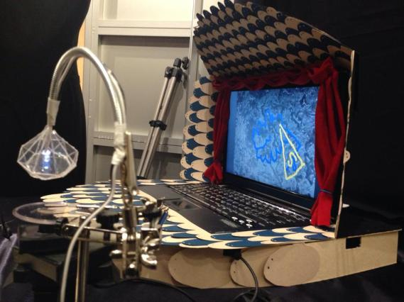 Biodiamond DIY Microscope and Theater Screening