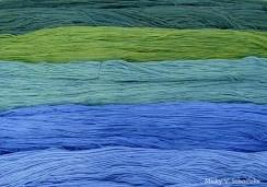Teinture à l'indigo sur laine brute ou déjà teinte