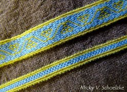 Inspiration mérovingienne en laine (Bertille de Chelles)