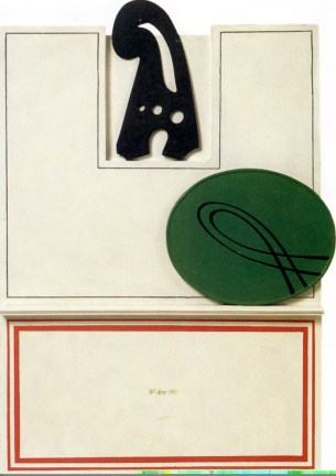 lucio-del-pezzo-grafismi-1967-acrilici-su-legno-69x47-cm