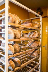 Les pains sortis du four