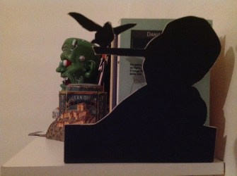 Reggilibri di cartone robusto nero
