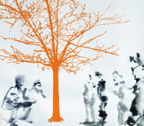 au pied de l'arbre