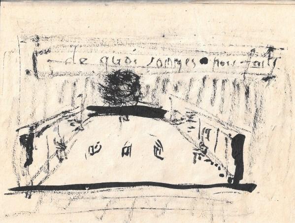 """""""Enfonçures et les cercueils de zinc"""" ~ Dessin de Didier-Georges Gabily"""
