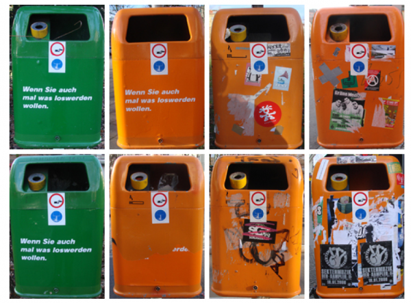 How to promote recycling? Make official looking stickers. By the Wa.