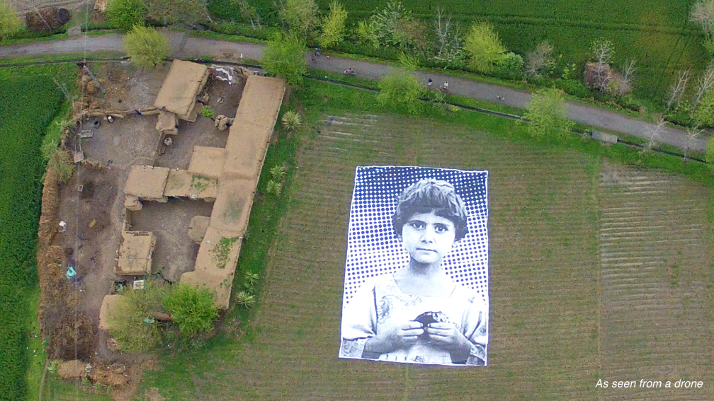#NotABugSplat | A giant art installation project that targets predator drone operators sitting thousands of miles away who refer to kills as BugSplats. Now they'll see a child's face instead.