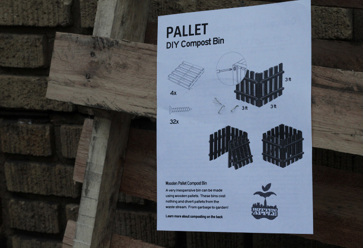 Pallet Compost Bin by Rotten Apple. Great use of the familiar IKEA aesthetic to recycling. Would be great if the name was more metalcore.