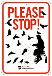 Jay Shells' Metropolitan Etiquette Authority Says Don't Feed the Pigeons