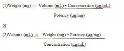 microdilution formula