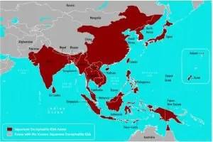 Fig: Geographic Distribution of Japanese Encephalitis Virus