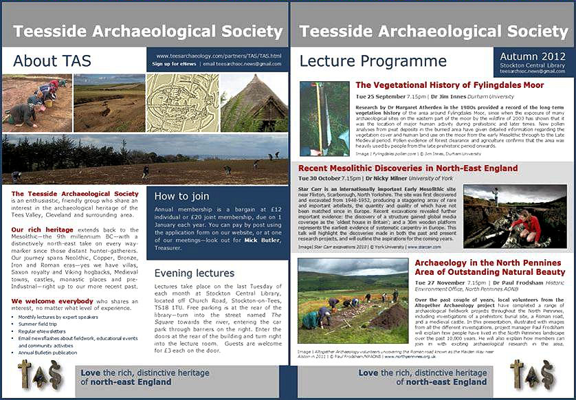 Teesside Archaeological Society | eNews | August 2012