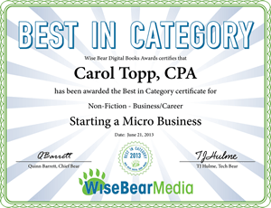 Award winner: Starting a Micro Business ebook