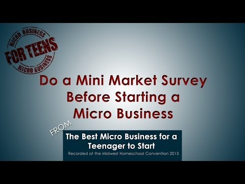 Video: Do a Mini Market Survey Before Starting a Micro Business