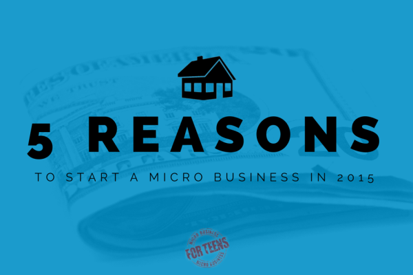 5 Reasons to Start a Micro Business in 2015