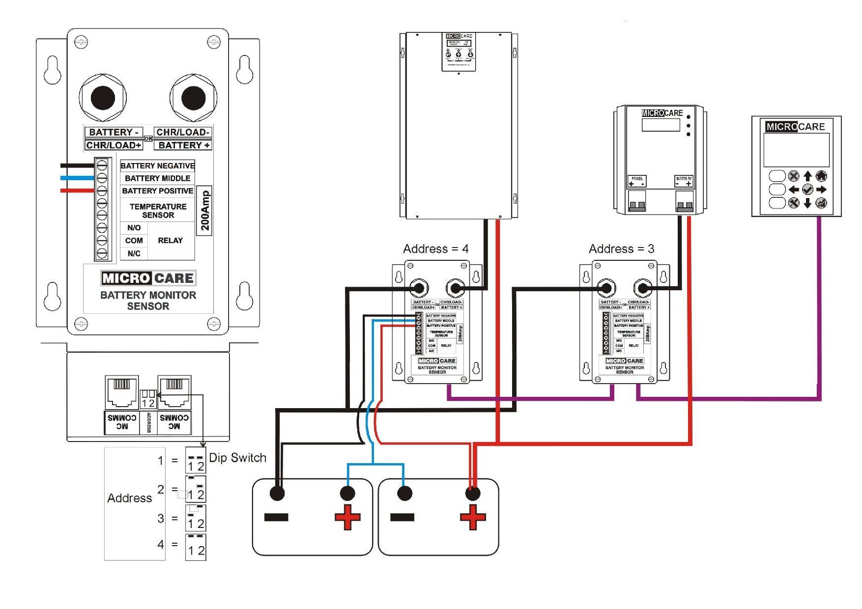 Tech Bulletin 200a Battery Monitor Sensor Adresses Page