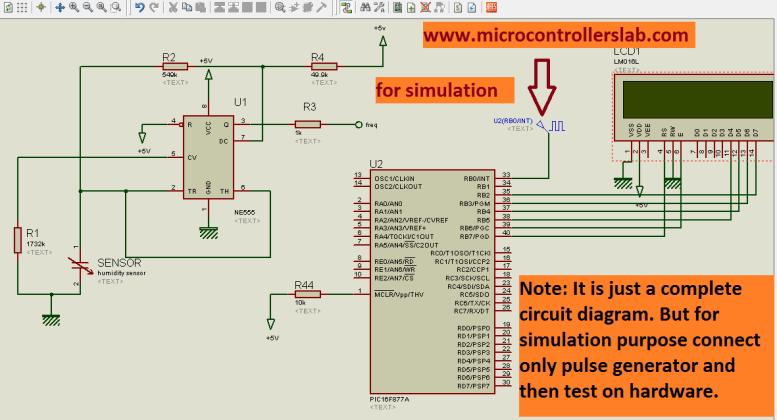 circuit diagram of digital humidity sensor