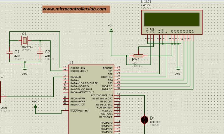 LCD interfacing with microcontontroller