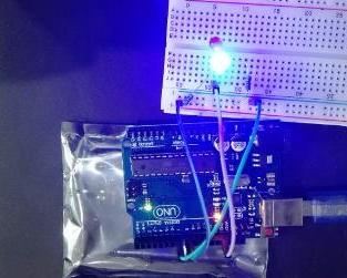 LED blinking using Arduino