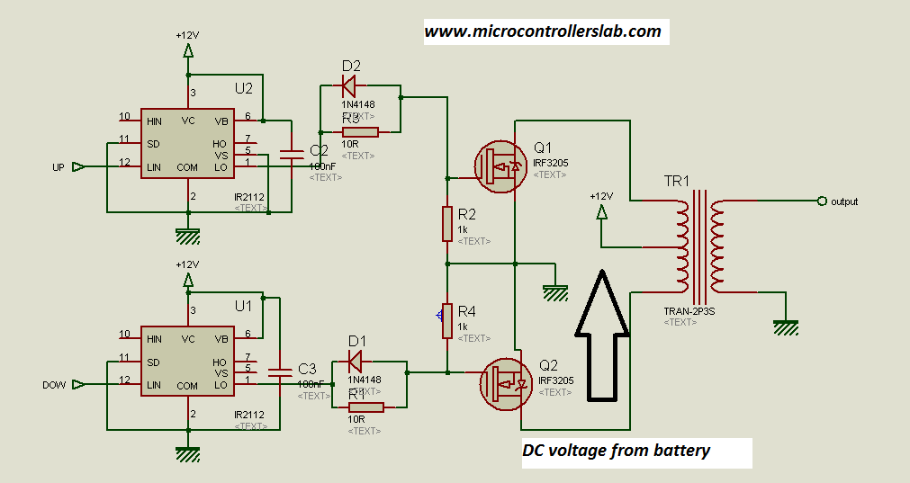 Modified Sine Wave Inverter Using Pic Microcontroller on how to convert 24v 12v