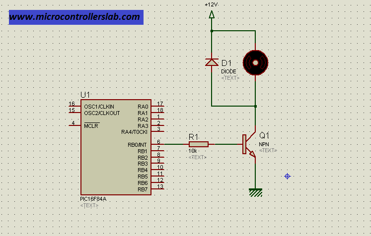 transistor interfacing with microcontroller