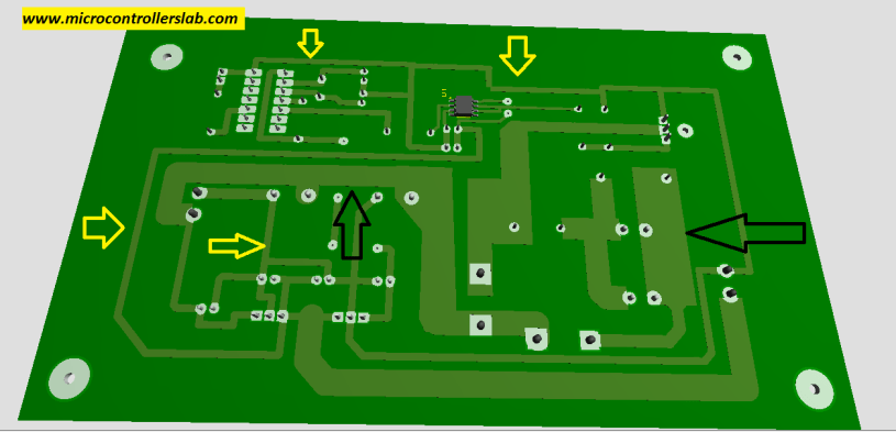 traces of PCB board